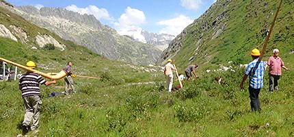 Alphorn Wandern