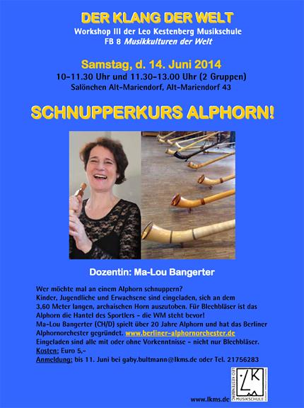 Alphorn-Schnupperkurs