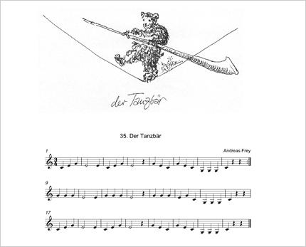 Alphornunterricht Tanzbär