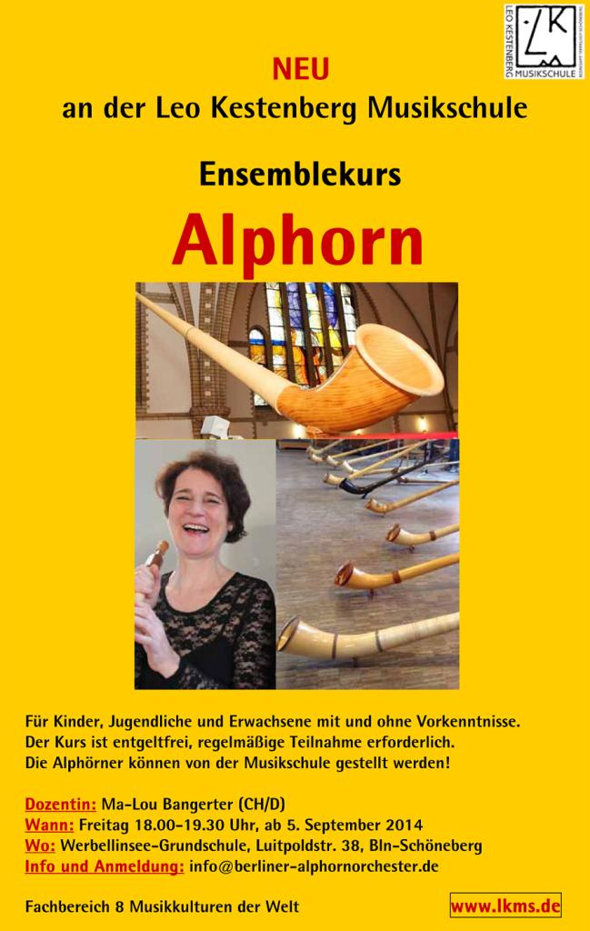 Regelmäßiger Ensemblekurs alphorn Berlin